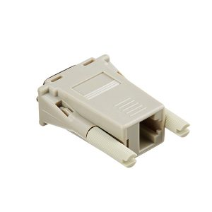 RJ45 female to DB9 female straight through adapter