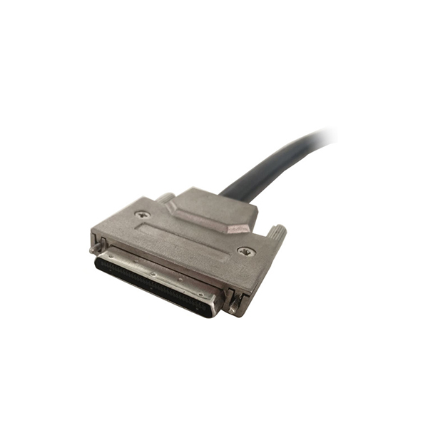 VHDCI 68 connector with screw, metal hood