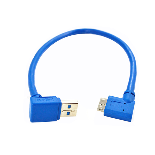 up angle USB 3.0 A male to lest angle Micro B male cable