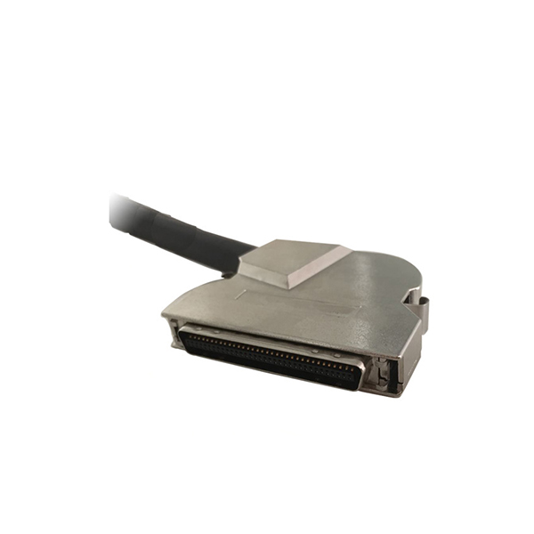 angle degree SCSI HP-CN 68 male connector with clip,matel hood