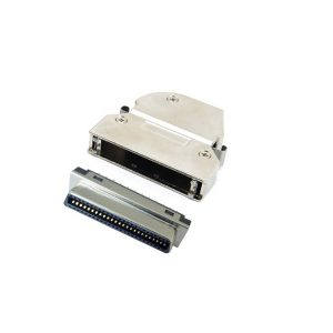 SCSI MDR 50pin female connector with Angled Exit Hood