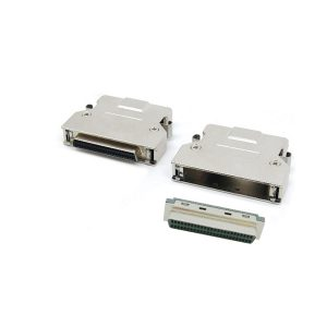HD50 pin scsi ii solder connector with clip