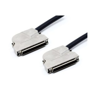 Right angled HD 50 scsi ii cable assembly