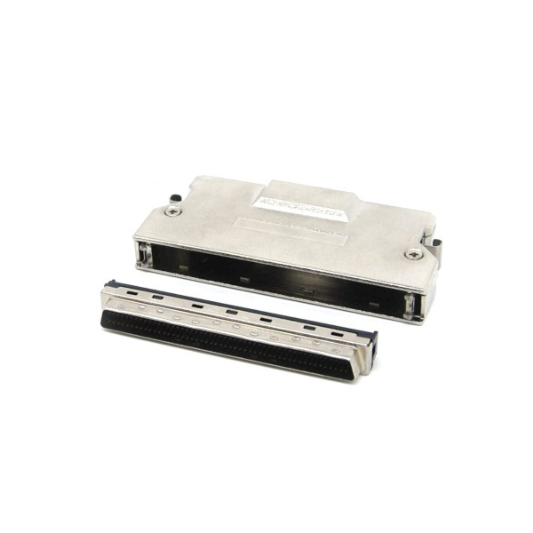 Solder Type SCSI HD 100 pin male Connector with latch clip