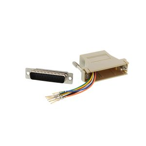 RJ45 to DB25 male serial console adapter