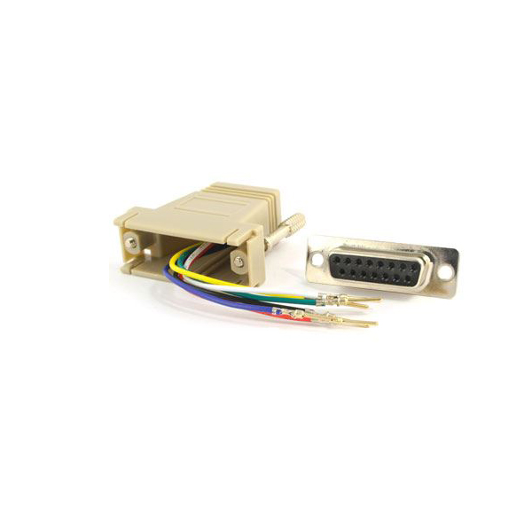 DB15 to RJ45 serial adapter