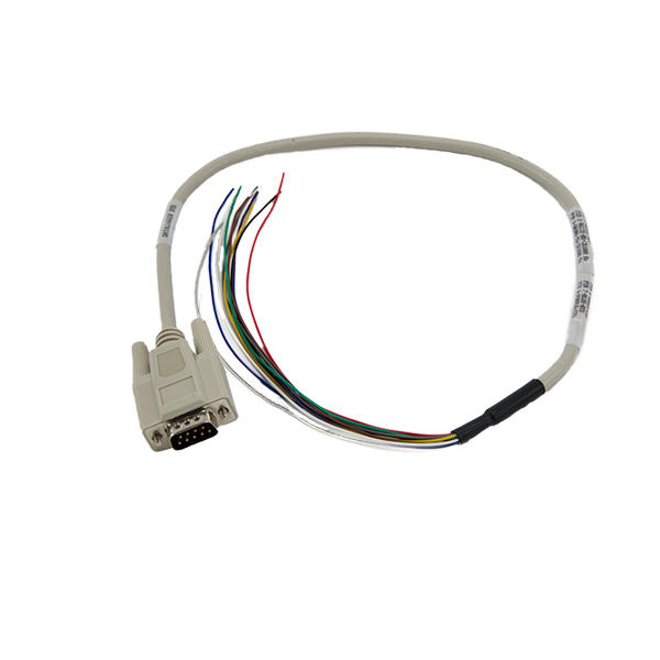 Beige custom RS232 DB9 male to open ended cable