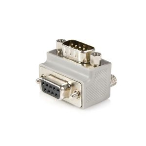 right angle DB9 male to female adapter