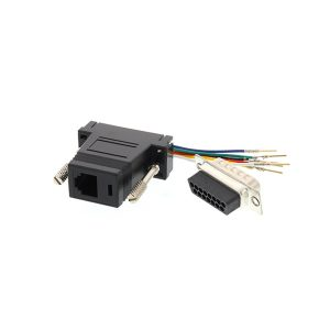 DB15 male to RJ45 female serial console adapter