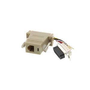 RJ12 female to DB15 male serial console adapter