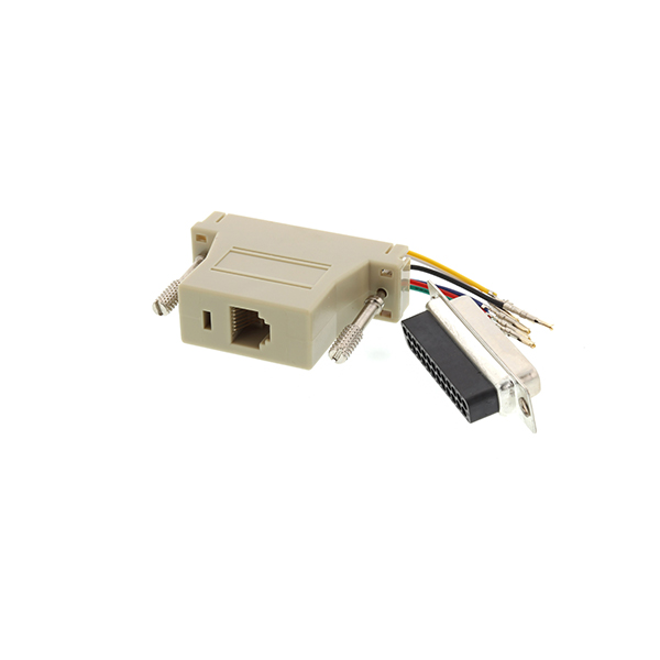 RJ12 female to DB25 female serial console adapter