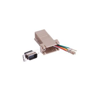 RJ12 female to DB9 male serial adapter