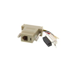 RJ45 female to DB 15 pin male serial adapter