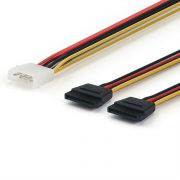 4pin Molex Power To Dual SATA 15pin splitter Cable