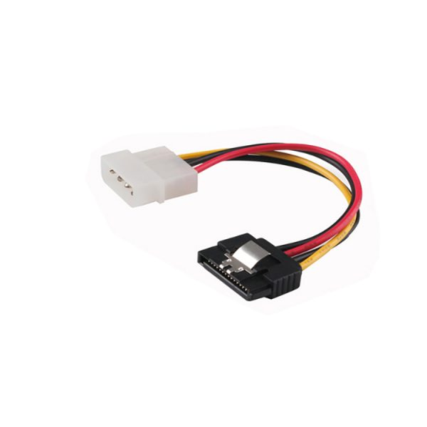 Latching SATA 15Pin Male to Molex 4Pin power cable