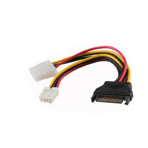15 pin SATA male to 4 pin Molex LP4 SP4 Power Cable