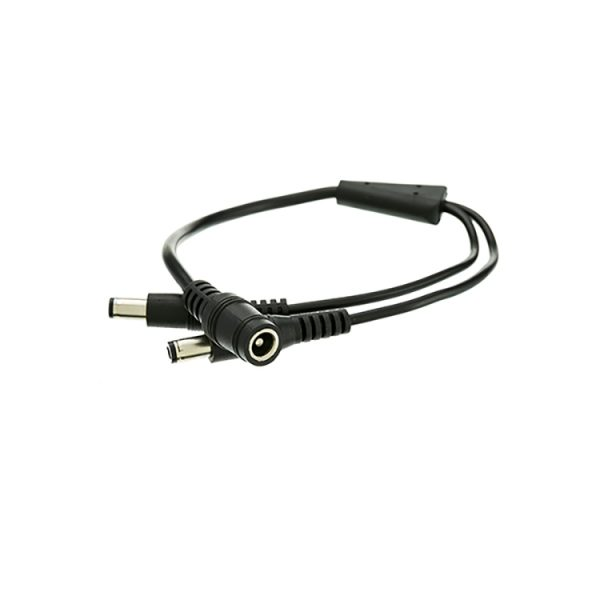 12V Pigtail 2.1×5.5mm 2 Male to 1 Female Y Splitter DC Cable