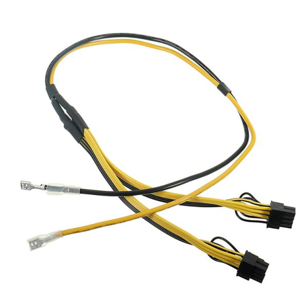 8pin 6+2pin Splitter Power Cable Cord with Terminal for RIG Miner