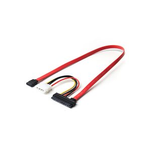 22P SATA To 7P SATA With Molex LP4 Power Cable