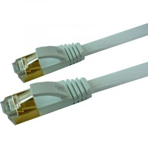 Slim thin Flat 32AWG SSTP Cat 7 Network Cable