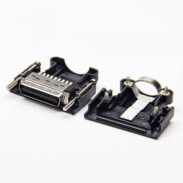 36 Pin SCSI MDR Wire Mount Male Connector