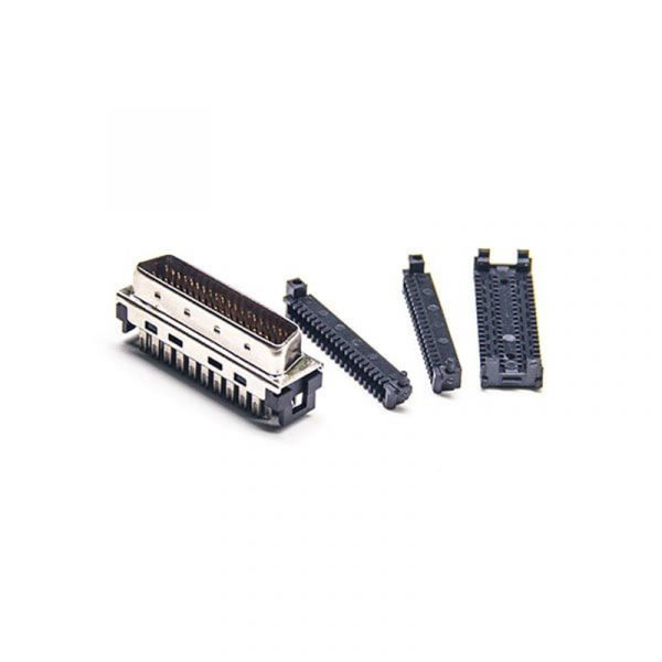 45 degree MDR 36 Male SCSI Connector with Clip