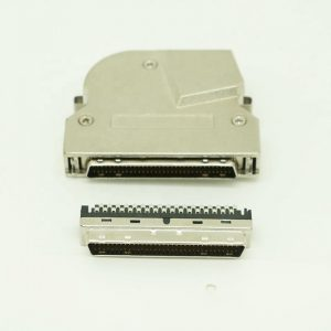90 degree 68 Pin SCSI Solder Connector with Latch
