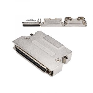 MDR68 pin SCSI Solder Connector with Latch Clip