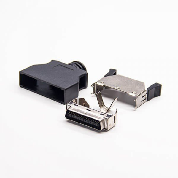 Solder MDR36 Position Connector with Latch Clip