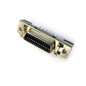 Vertical MDR26 pin Female SCSI PCB Connector