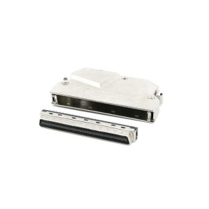 90 degree angled SCSI MDR 100 pin connector with clip