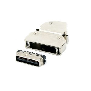 90 degree angled SCSI MDR 36 pin Cable Connector with latch clip