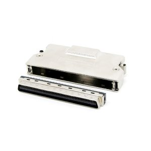 SCSI MDR 100 pin solder connector with latch clip