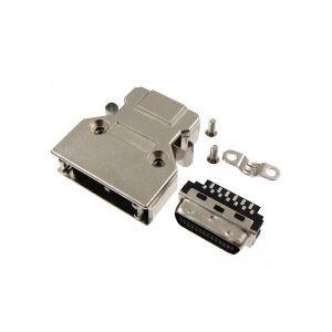 SCSI MDR 20 pin solder connector with latch clip