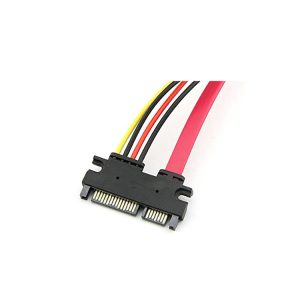 22-pin (7+15) Sata Male to Female Data and Power Combo Extension Cable