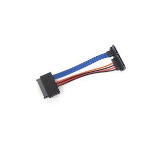 left Angle SATA III 22 Pin to 16 pin Micro SATA Cable