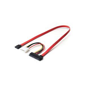 22P SATA To 7P SATA With Molex LP4 Power Cable
