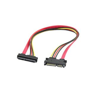 22 pin SATA male to female extension Cable