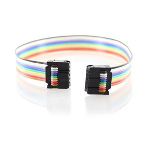 1.27mm Pitch 10 Pin Wire Rainbow IDC Flat Cable